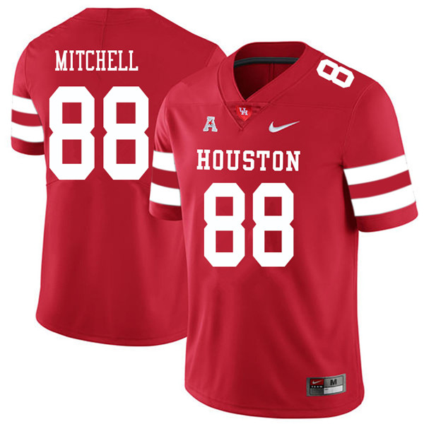 2018 Men #88 Osby Mitchell Houston Cougars College Football Jerseys Sale-Red